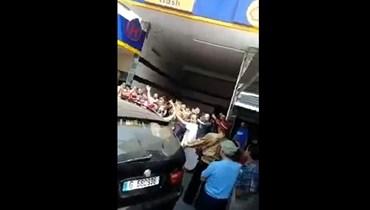 لقطة من الفيديو المتداوَل.