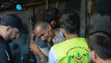والد أحد ضحايا انفجار معمل القازانات في برج البراجنة (نبيل إسماعيل).