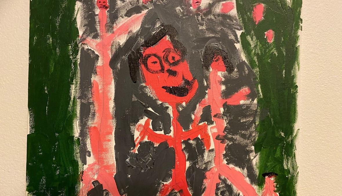 العائلة، لوحة للطفل مايلو أبو شاهين (خمس سنوات ونصف السنة).