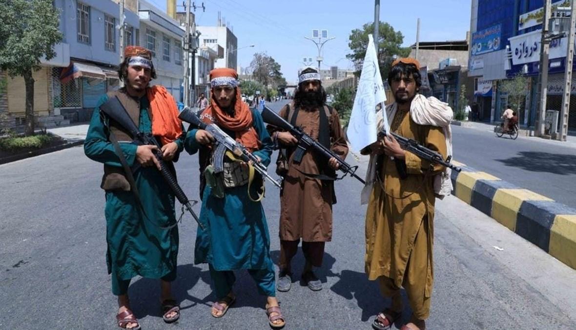 مقاتلو طالبان في مدينة كابول، أفغانستان