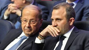 الرئيس ميشال عون والنائب جبران باسيل