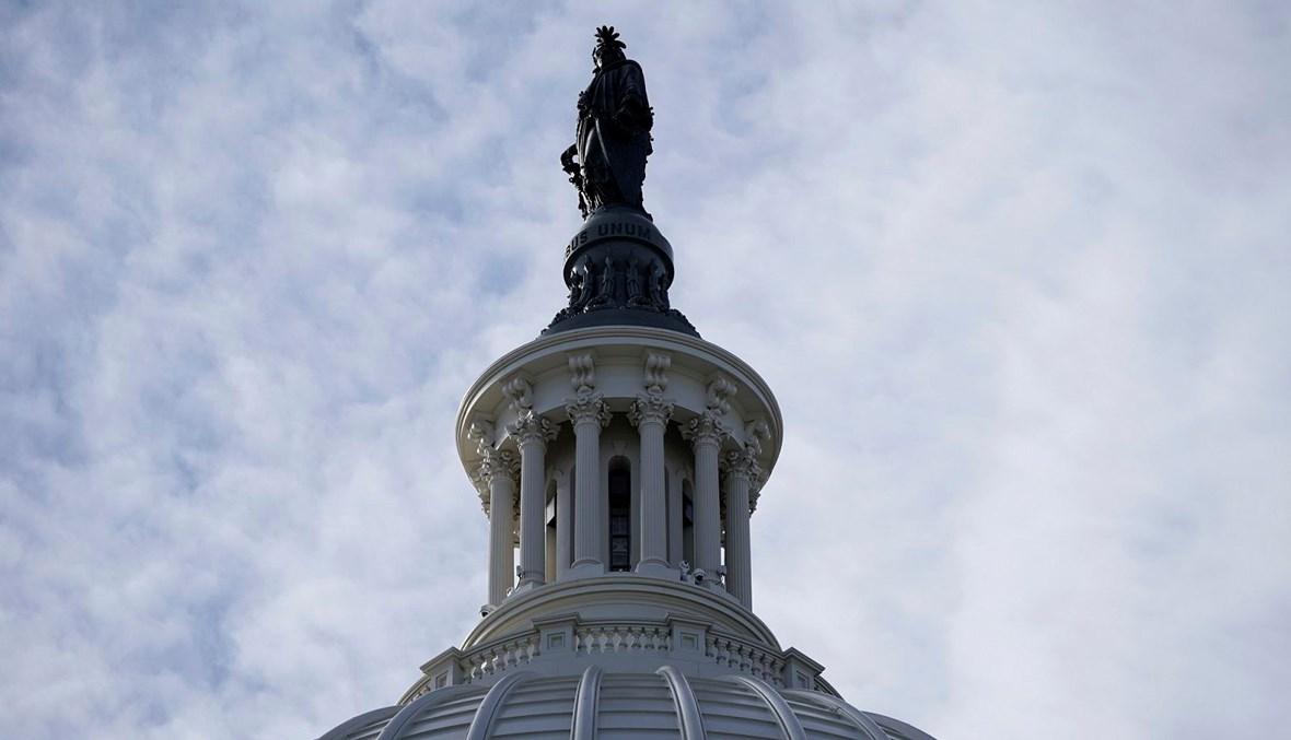 تمثال الحرية فوق قبة مبنى الكابيتول الأميركي في واشنطن العاصمة (تعبيرية- أ ف ب).
