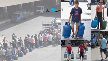أزمة الغاز في لبنان (تصوير نبيل إسماعيل).