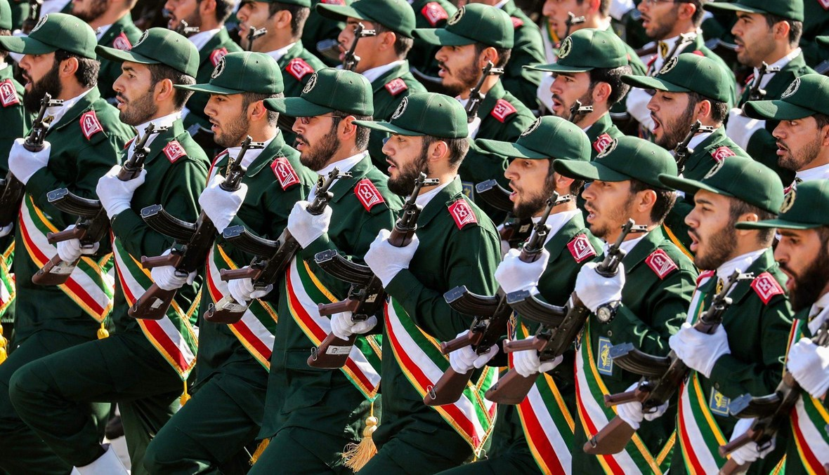 استعراض عسكري للحرس الثوري الإيراني في طهران (أ ف ب).