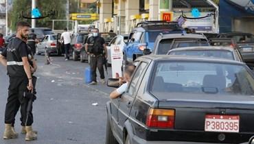 """سيارة أجرة في محطة وقود (تعبيرية- """"النهار"""")."""
