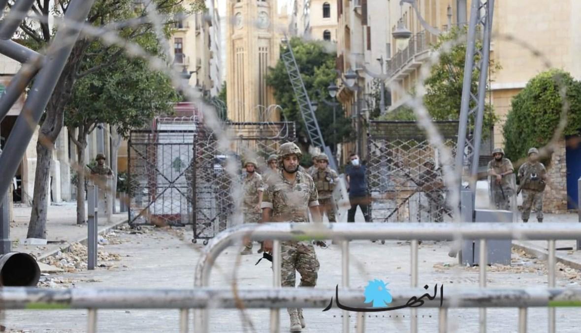 الجيش عند مدخل مجلس النواب (تعبيرية- نبيل اسماعيل).