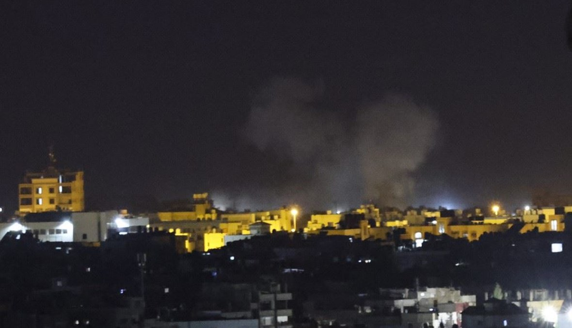 قصف إسرائيلي ليلي على قطاع غزّة (أ ف ب).