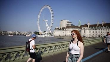 الحياة اليومية في لندن (أ ف ب).