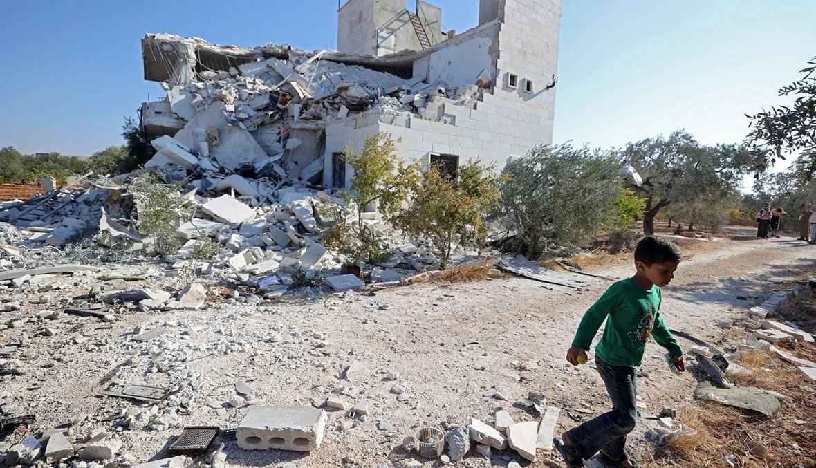 مشهد مأسوي من إدلب (تعبيرية- أ ف ب).