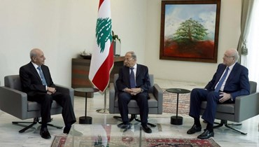 لقاء الرؤساء الثلاثة في بعيدا.
