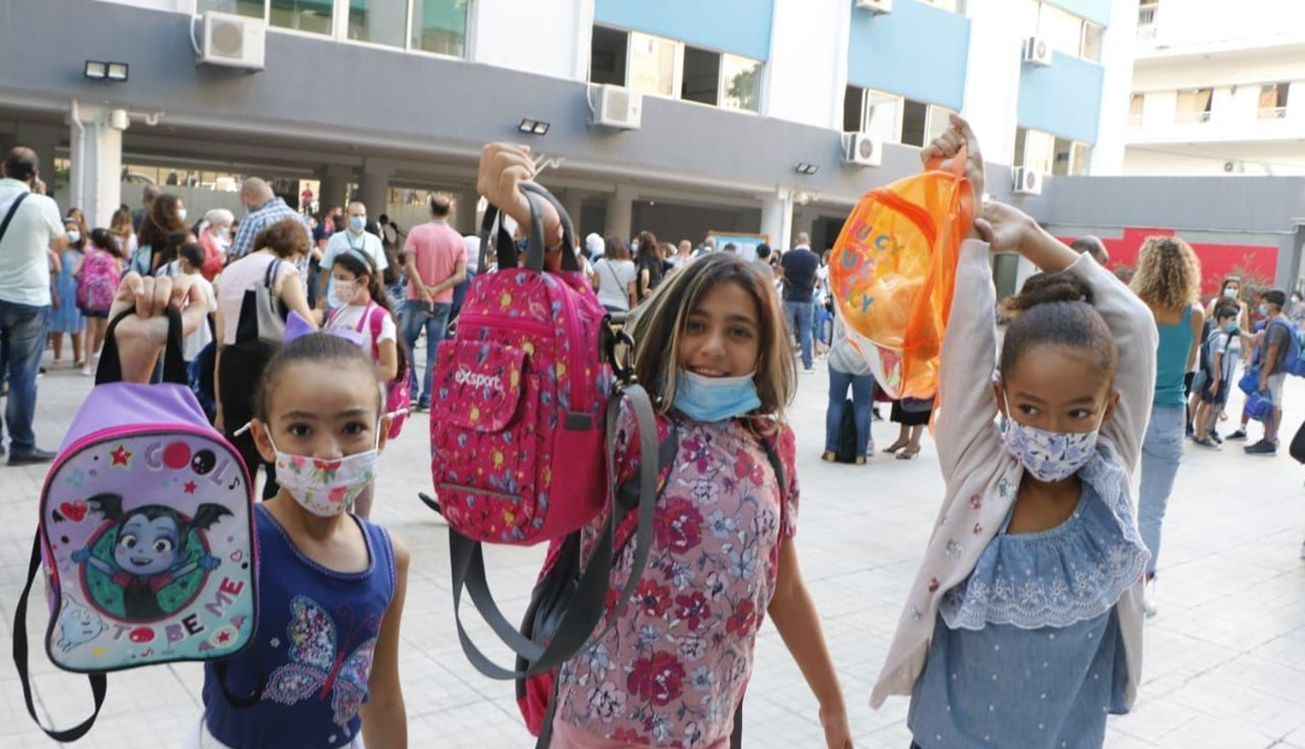 عودة التلامذة إلى المدارس صباح اليوم (حسام شبارو).