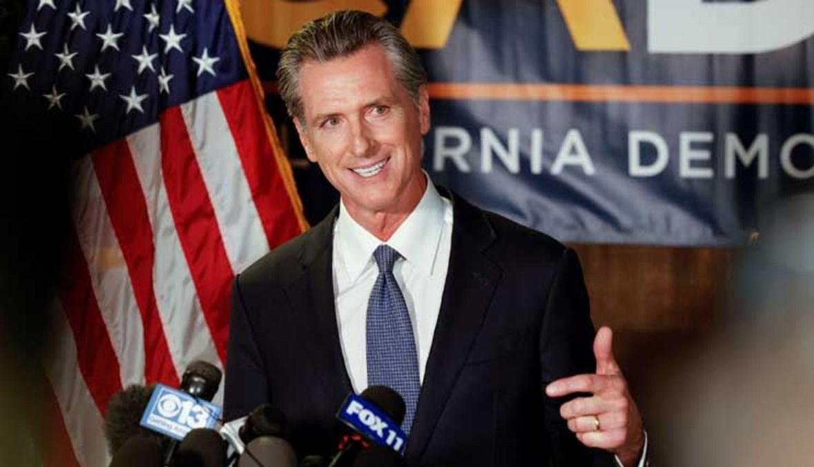 حاكم ولاية كاليفورنيا الديموقراطي غافين نيوسوم (أ ف ب).