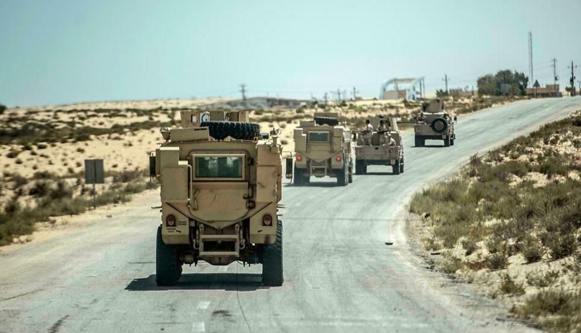 دورية لقوات الأمن المصرية في العريش (أ ف ب).