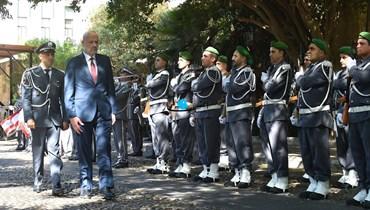 وزير الداخلية بسام المولوي(تصوير حسام شبارو).