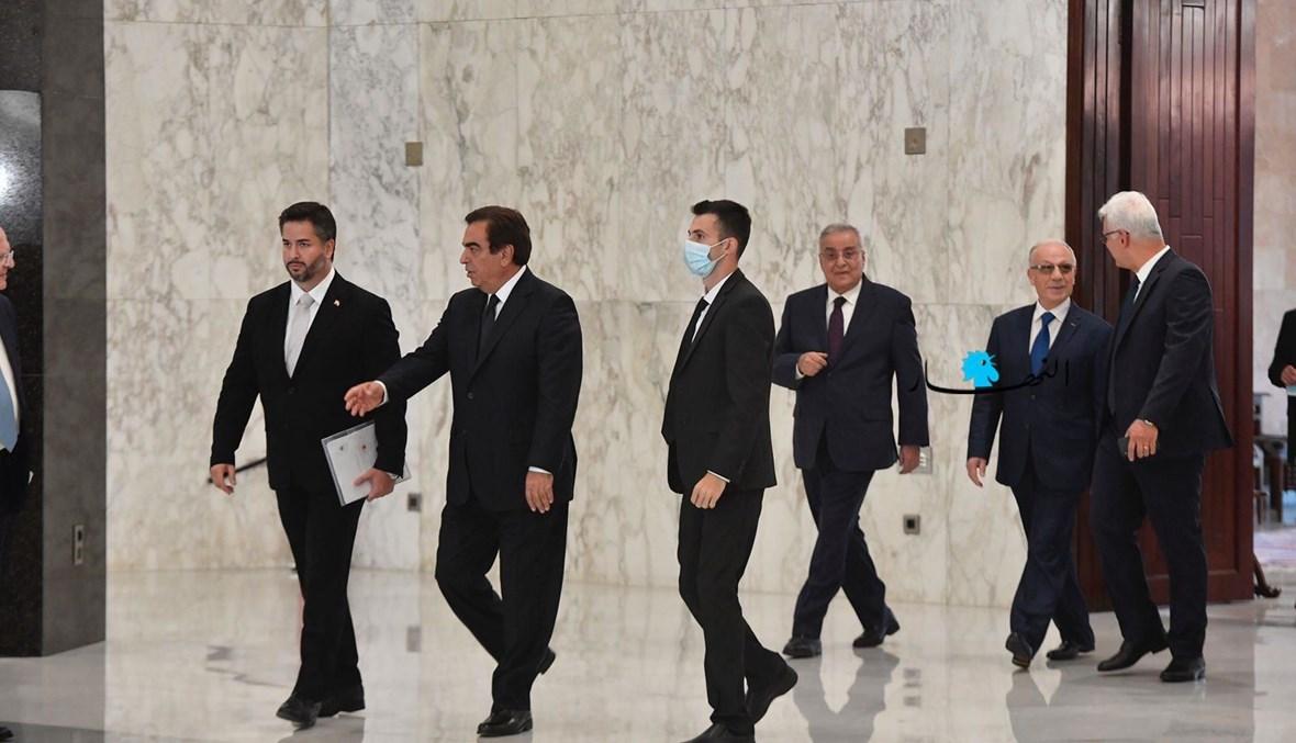 وزراء في حكومة ميقاتي (تصوير نبيل اسماعيل).