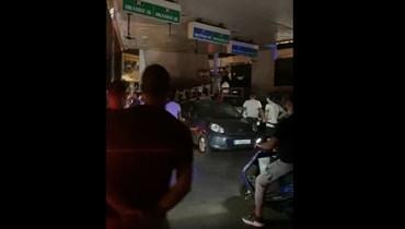 اعتداء على محطة الضناوي للمحروقات في بيروت.
