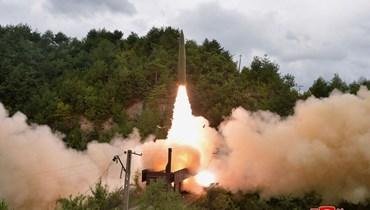 الصاروخ الكوري الشمالي (ا ف ب)