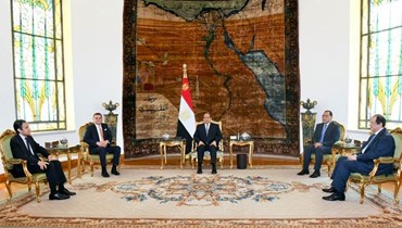 السيسي مستقبلا الدبيبة في القاهرة (16 ايلول 2021، المتحدث الرسمي لرئاسة الجمهورية المصرية).