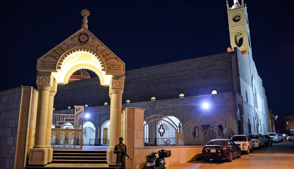 كنيسة في مدينة قرقوش العراقية (أ ف ب).