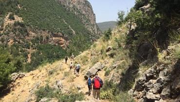 مسارات للمشي في لبنان