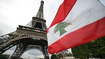 العلم اللبناني من أمام برج إيفيل، باريس (تعبيرية).