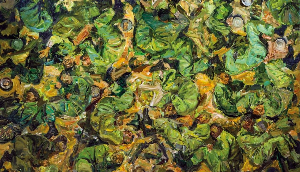 """""""الوجبة الأخيرة"""" للفنّان سيروان باران الحائز على جائزة أفضل لوحة."""