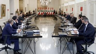 من مناقشة البيان الوزاري مع الرئيس ميشان عون (النهار).