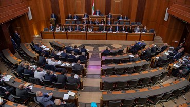 مجلس النواب مجتمعاً خلال جلسة منح الثقة لحكومة الرئيس حسان دياب (أرشيفية- نبيل إسماعيل).