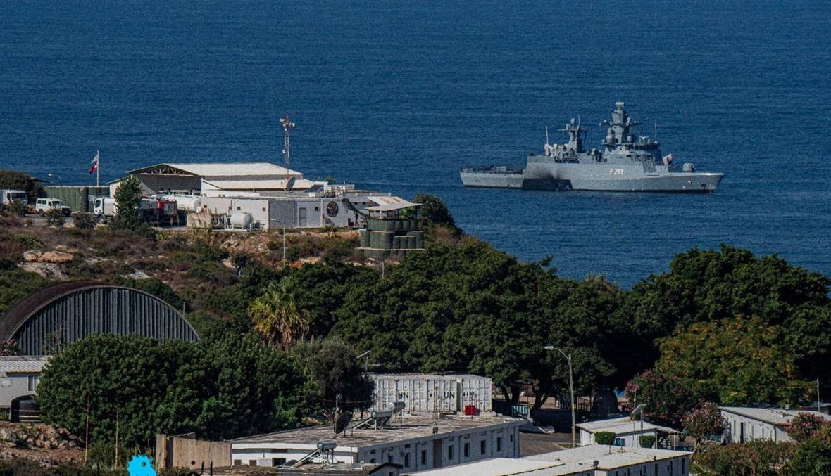 الحدود البحرية عند نقطة الناقورة (نبيل إسماعيل).