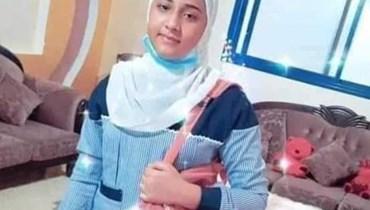 الضحية حنان البوجي التي قُتلت على يد والدها.