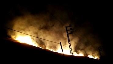 بالفيديو- حريقان يلتهمان موقعين من محافظة عكار