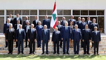 الصورة التذكارية للحكومة اللبانية.