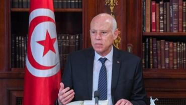 سعيّد خلال اجتماع في قصر قرطاج (14 ايلول 2021، رئاسة الجمهورية التونسية).