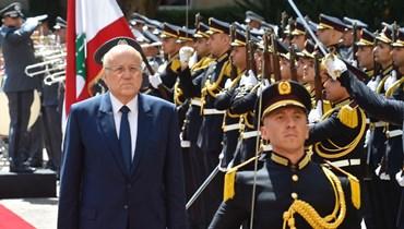 الرئيس نجيب ميقاتي في السرايا الحكومية (نبيل اسماعيل).