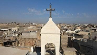 كنيسة مار توما السريانية في الموصل، 18 أيلول 2021 (تعبيرية- أ ف ب).