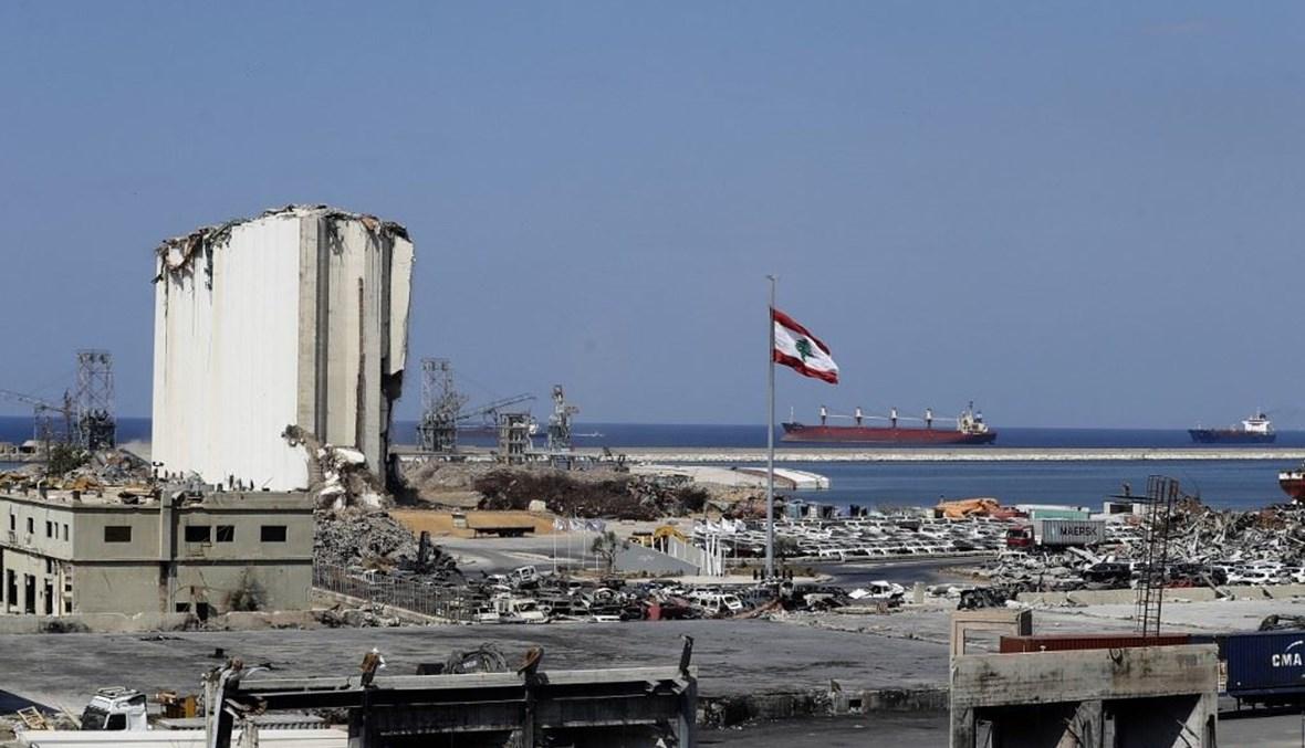 مرفأ بيروت (أ ف ب).