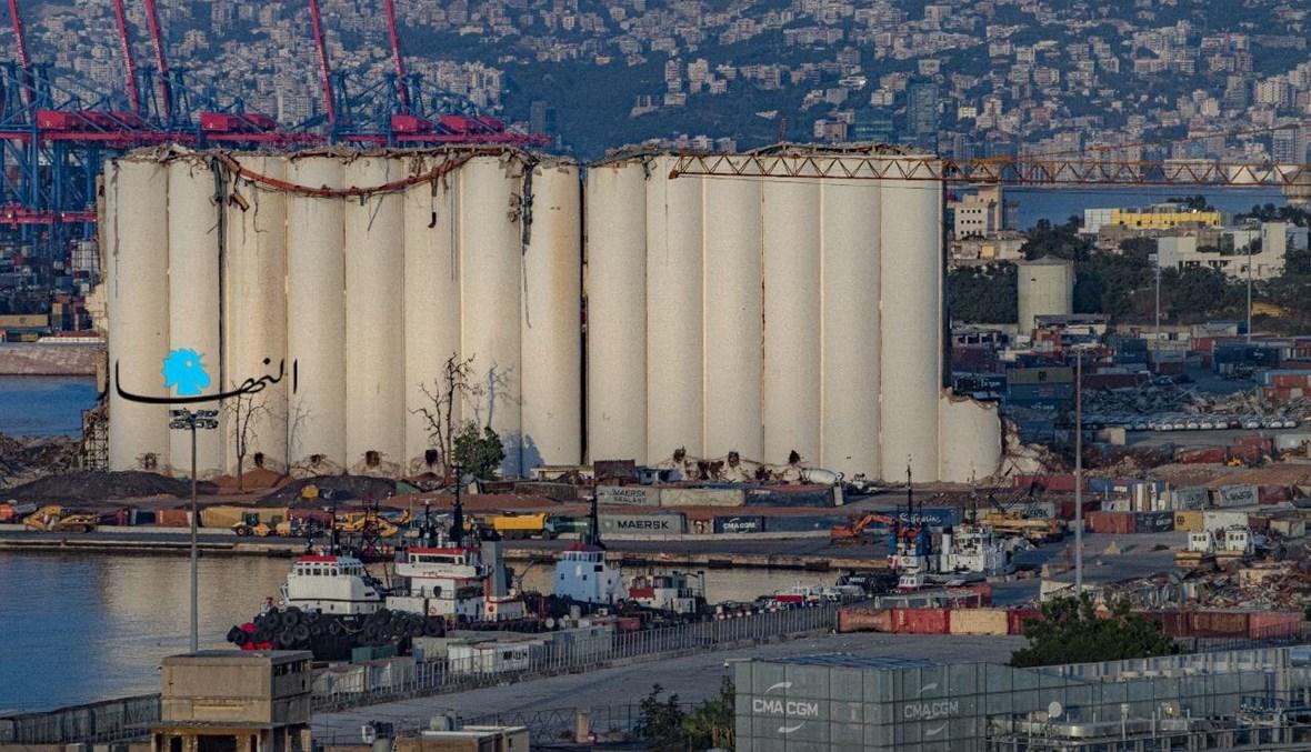 أهراءات القمح في مرفأ بيروت بعد عام وشهر على انفجاره (نبيل إسماعيل).