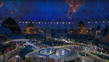 """العرض الافتتاحي الضخم لمعرض """"إكسبو دبي 2020""""."""