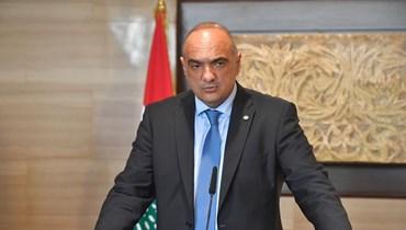 رئيس الوزراء الاردني بشر الخصاونة متحدثاً أمس في بيروت.