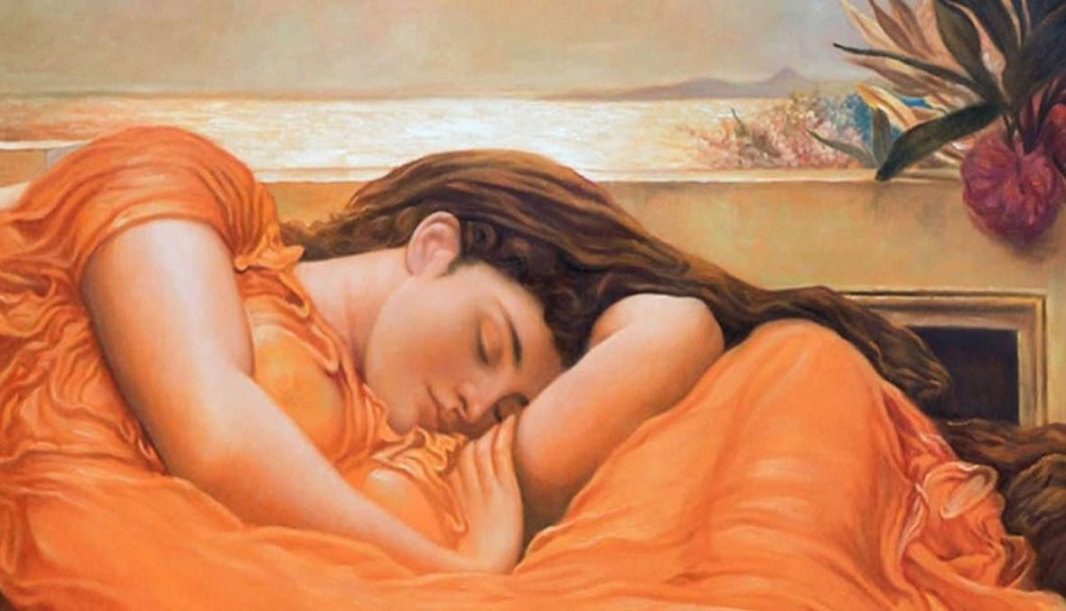 """لوحة """"حزيران المشتعل"""" للبارون فريدريك ليتون. (1895)"""