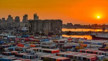 مرفأ بيروت عشية الرابع من آب 2021 (نبيل اسماعيل).