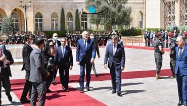 رئيس الحكومة نجيب ميقاتي في السرايا الحكومية (نبيل إسماعيل).