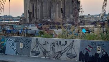من أمام مرفأ بيروت المدمَّر (نبيل إسماعيل).