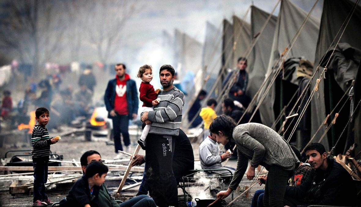 مخيّم لاجئون سوريّن (أ ف ب).