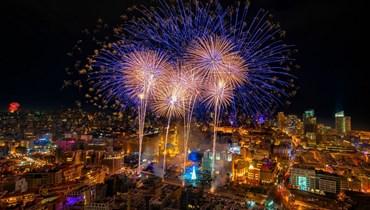 من احتفال رأس السنة الميلادية  في وسط بيروت (أرشيف - نبيل إسماعيل).