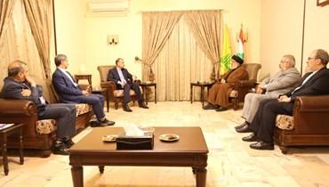 من زيارة الوزير الإيراني للأمين العام لحزب الله السيد حسن نصرالله.
