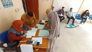 """من داخل مركز اقتراع في مدينة السليمانيّة بإقليم كردستان العراق _مراسل """"النهار""""."""