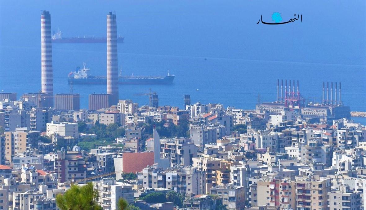 مشهد عام لجزء من خليج الذوق والمعمل الحراري (حسام شبارو).