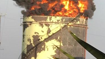 صورة منتشرة على مواقع التواصل للحريق