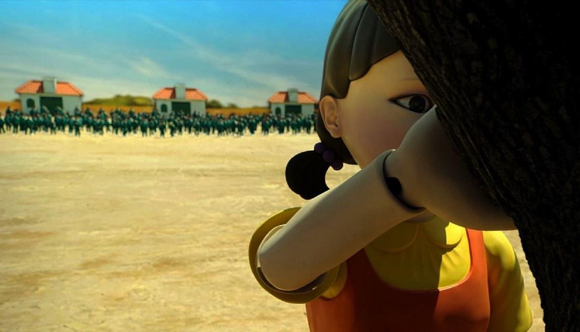 تقليد إحدى ألعاب مسلسل لعبة الحبّار في المدارس.